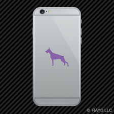 (2x) Doberman Pinscher Cell Phone Sticker Mobile Dog Canine many colors