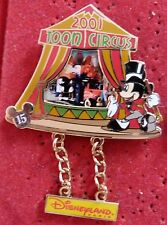 PIN'S DLRP DISNEYLAND RESORT PARIS 15 ANS MICKEY TOON CIRCUS 2001 EL 900 EX