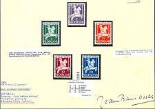 NEDERLAND 1947  SIGNATURE DESIGNER= A.BIERUMA-OOSTING  =STAMPS 1 SET
