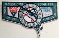 O-SHOT-CAW OA LODGE 265 SOUTH FLORIDA BSA NOAC 1994 DELEGATE MLB FL MARLINS FLAP