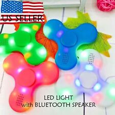200x Bluetooth Speaker LED Fidget Spinner Hand Spinner Pair Phone Plays Music w