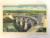 Bedford, Pa.Vintage Linen Post Card Narrows Bridge Looking East Rt. 30