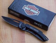 CASE TECX DINERO HARLEY DAVIDSON FOLDING MONEY CLIP POCKET KNIFE BLACK 52080 NEW
