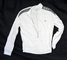 Pearl Izumi Solid white MEN long sleeve cycling bike jersey select MEDIUM shirt
