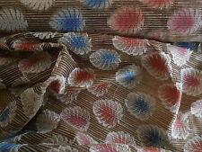 Helecho India Bordados Seda Cruda Multi Confección Tela Sari Tex ex 1096