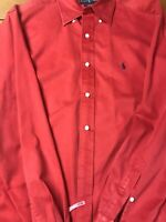 Polo By Ralph Lauren Blake Medium Long Sleeve Cinnamon /Red Excellent Condition