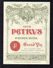 POMEROL 1ER GCC VIEILLE ETIQUETTE CHATEAU PETRUS 1978 75 CL  §26/01/18§