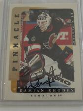 1996-97 Pinnacle Be a Player #202 Damian Rhodes Senators Auto Autograph Card