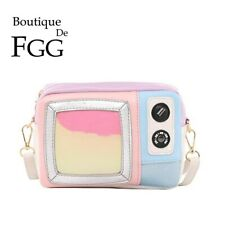 Small TV Shape Girls Shoulder Handbags Casual Crossbody Bags Messenger Purses