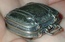 Vintage Miniature Silver 800 Figurine Figure Suitcase 18.23 gr, #S2400