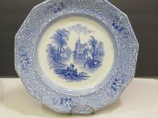 James Edwards Blue Staffordshire Chateau Dinner Plate 10""
