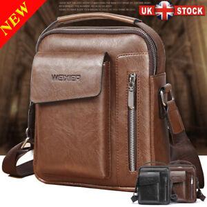 Men's Genuine Leather Handbag Shoulder Bag Cross Body Messenger Business Fashion