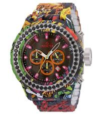 New listing Invicta Subaqua Graffiti Hydroplated Men's 52mm Black CZ Chronograph Watch 35434
