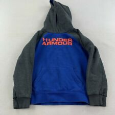 Under Armour Sweater Youth Small Size 7 Blue Gray Sweatshirt Hoodie Kids Boys