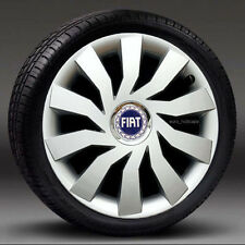 """Set of 4 (14"""") wheel trims, Hub Caps, Covers to fit Fiat PUNTO,500"""