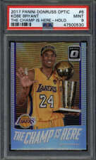 KOBE BRYANT 2017/18 OPTIC #6 PSA 9 THE CHAMP IS HERE SILVER HOLO PRIZM SS1166