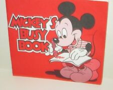 WALT DISNEY WORLD RESORT MICKEY MOUSE MICKEY'S BUSY BOOK COLORING ACTIVITY 1986