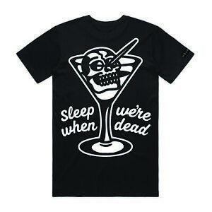 Hourless Tall Tee (T-Shirt) Mens S M L XL XXL BLACK Tattoo Afends Vans RVCA