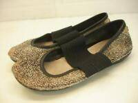 Women's 7 sz 37 Camper Right Nina Ballet Flats Mary Jane Shoes Hair Calf Stretch