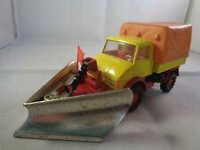Corgi Toys Mercedes Benz UNIMOG Snowplough With Unpainted Blade ,Vintage Diecast