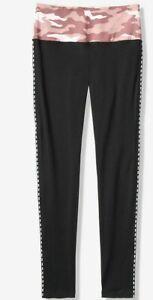 Victoria Secret PINK CAMO COTTON Yoga LEGGINGS Logo XS S L High waist NEW