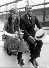 New 5x7 Photo: Early Movie Stars Douglas Fairbanks and Mary Pickford