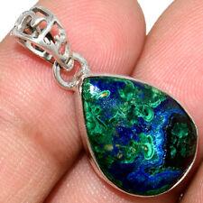 Azurite In Malachite - Morenci Mines 925 Silver Pendant Jewelry AP211569