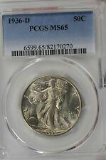 1936-D Walking Liberty Half Dollar : PCGS MS65