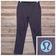 Lululemon Pants Pin Striped Casual Active Golf Dress Mens Size 34x32 Grey Gray