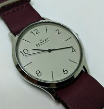 SKAGEN SKW6150 Men's Modern Quartz Watch - NEW battery and NATO leather strap