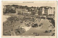 France - Brittany, Dinard, La Plage - vintage postcard