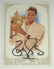 ROGER FEDERER SIGNED 2012 TOPPS ALLEN & GINTER CARD AUTOGRAPH AUTO!!!