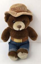 "Vintage 13"" SMOKEY THE BEAR Plush Stuffed Toy 1985 Three Bears EXCELLENT"