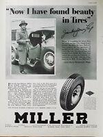 1929 Miller Deluxe Balloon Tires James Montgomery Flagg Photo  Original Ad