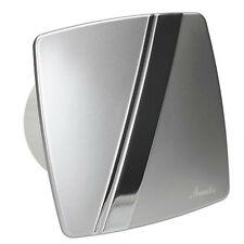 "Bathroom Extractor Fan Pull Cord 100mm/4"" Shower Kitchen Silver LS-100W"