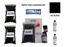Black Flocking Kit Large Triple Pack - Flocked Dash Kit For Flocking Car DIY