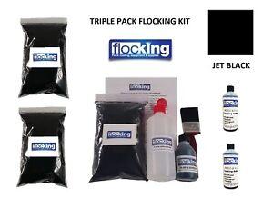 Black Flocking Kit Large Triple Pack - Flocked Dash Kit For Flocking Car DIY