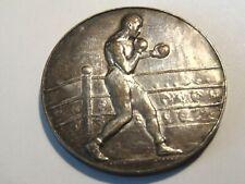 VINTAGE JOHN PINCHES LONDON MEDAL FOR BOXING WHITE METAL UNUSED NOT ENGRAVED
