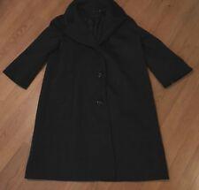ELIE TAHARI WOMEN'S WOOL TRENCH COAT JACKET LONG SLEEVE BUTTON UP BLACK SIZE 14