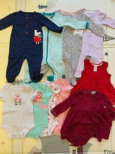 Girls bundle 6 months 10 items including Carters & Cococo  Body suit dress New