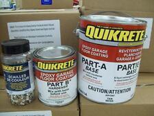 Quikrete Epoxy Garage Floor Coating Kit TAN  w/TAN Quikrete Color Flakes