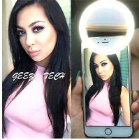 Selfie LED Light Ring Flash Fill Clip Camera For Phones Laptops Tablets