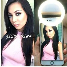 Selfie LED Light Ring Flash Fill Clip Camera For Phones Laptops Tablets