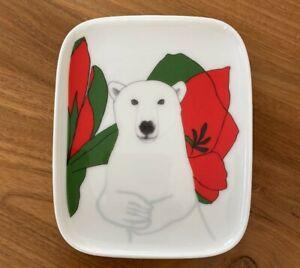 """MINT! Marimekko OIVA """"NANUK"""" Ceramic Square Plate F/S/tracking"""