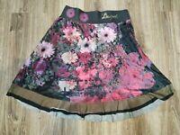 Desigual  women's   skirt  size M  gray multi color