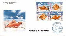 Albania 1999. FAUNA. Mediterranean Monk Seal. Monacus Albiventris. FDC Set MNH