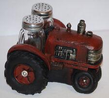 Red Tractor Salt & Pepper Shaker Set