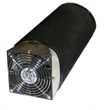 "HYDROPONIC ACTIVATED CARBON  FILTER AND FAN COMBO WITH 130 CFM FAN ""REFILLABLE"""