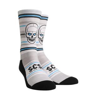 Stone Cold Steve Austin Skull Striped WWE Mens Rock Em Socks