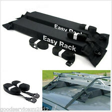 Black Soft Car SUV Cargo Storage Top Roof Rack Luggage Carrier Load 60kg Baggage